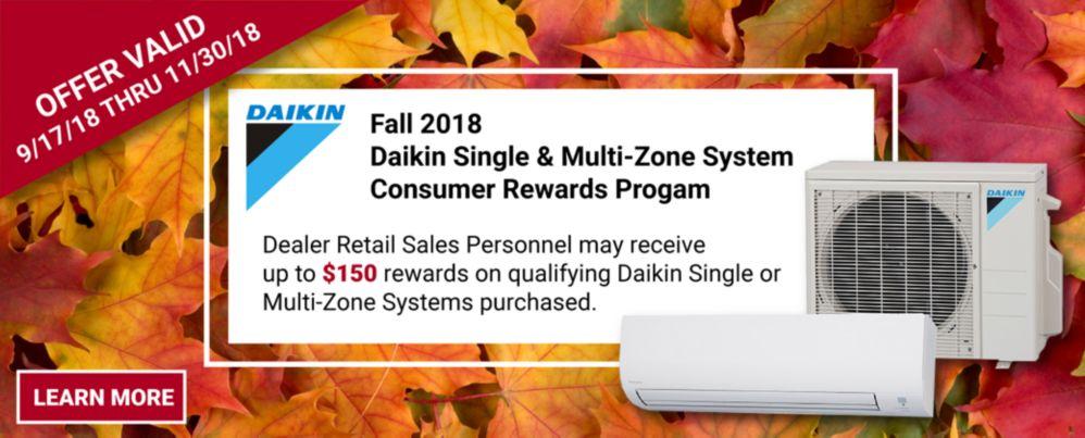 Fall Daikin Promo