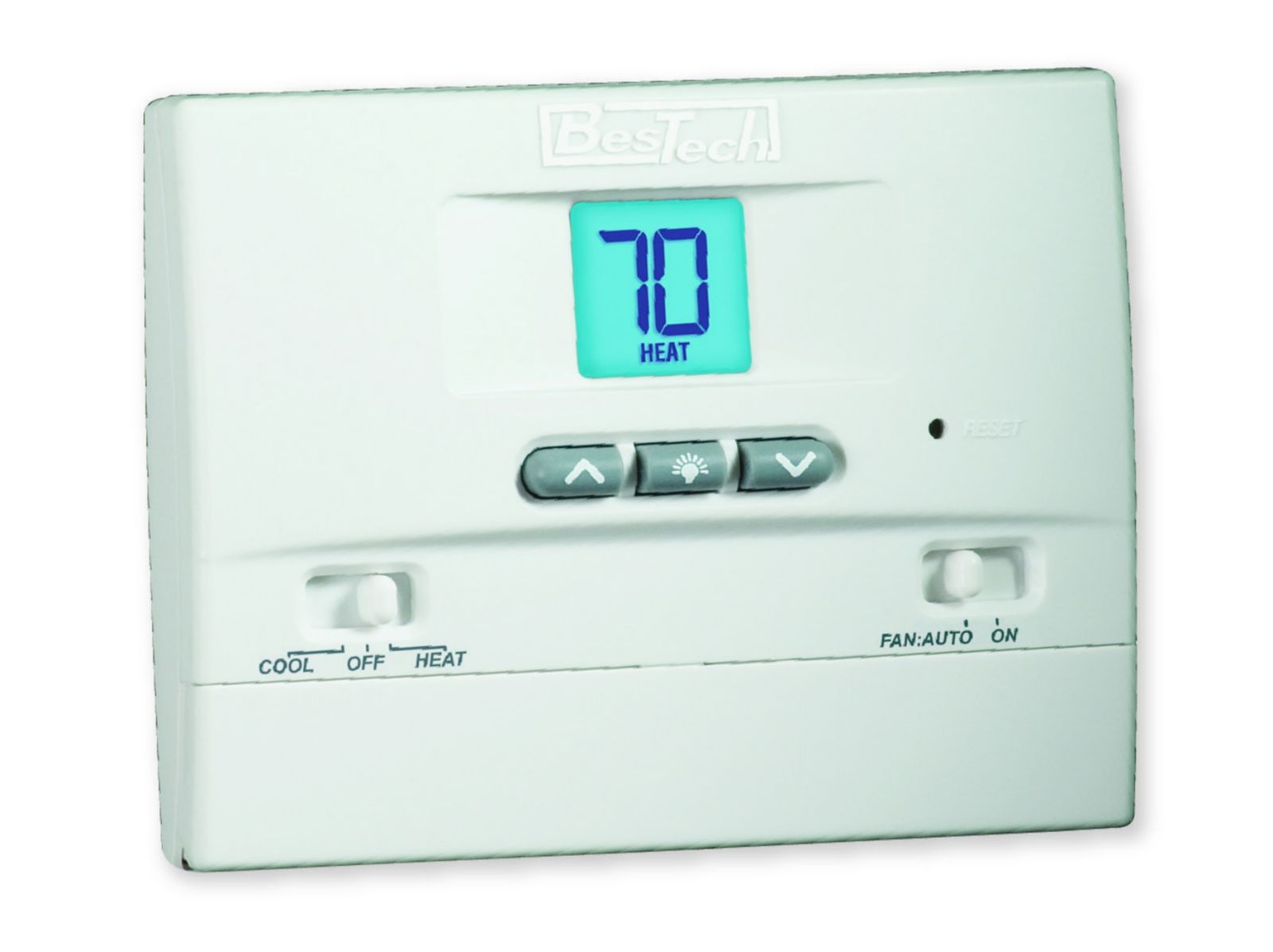 Bestech 1 Heat 1 Cool Non Programmable Thermostat