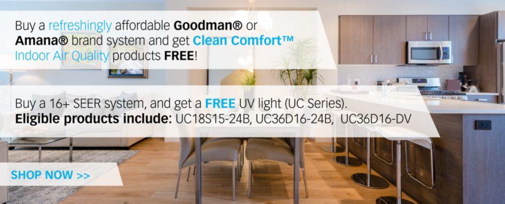 Clean Comfort UV Light Promo