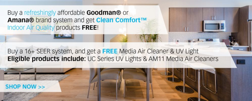 Clean Comfort UV Air Promo