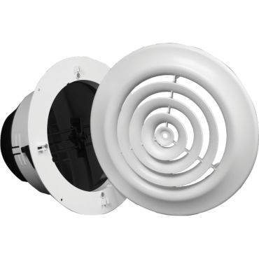 8 Round Ceiling Diffuser White