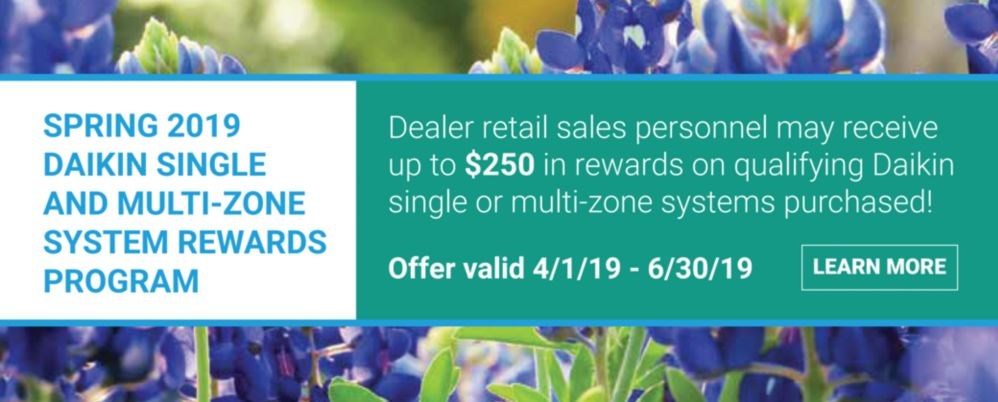 Daikin Dealer Rewards Spring 2019