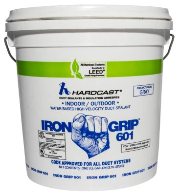 Iron Grip 601 Duct Sealant Gray 1 Gallon