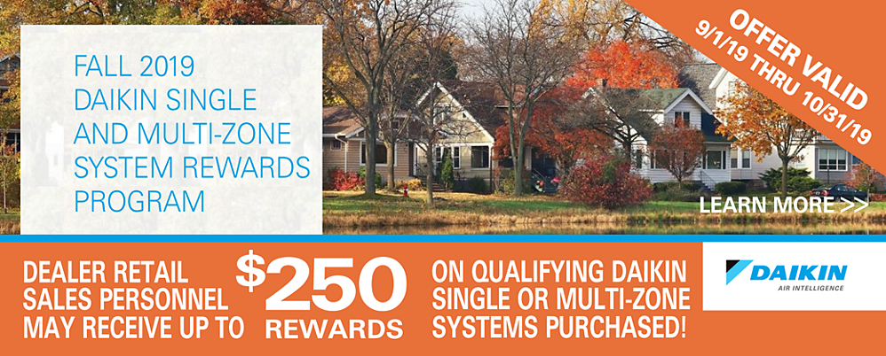 Daikin Rewards Fall 2019