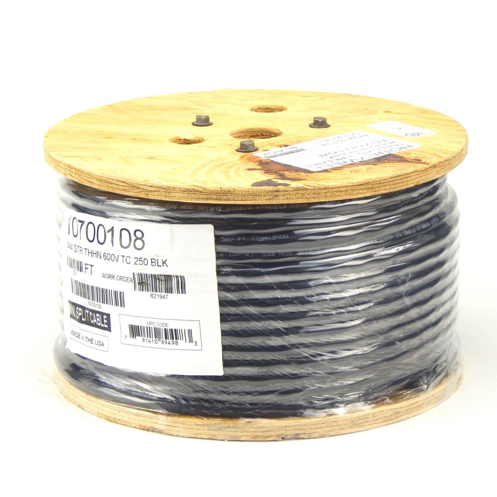 14/4 Stranded Non-Shielded Minisplit Wire Cable - Black - 250\'
