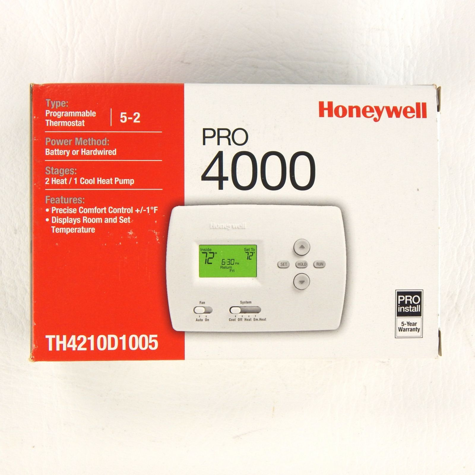 Product Highlights. The PRO 4000 series programmable thermostat ...