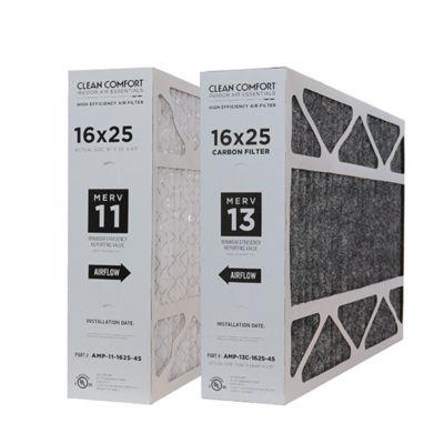 Single Filter Clean Comfort AMP-13C-2020-45 20 x 20 x 4.5 Carbon Air Filter MERV 13
