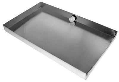HVAC DRAIN PAN 18 X 30 X 2 GALVANIZED 26 GAUGE SHEET METAL