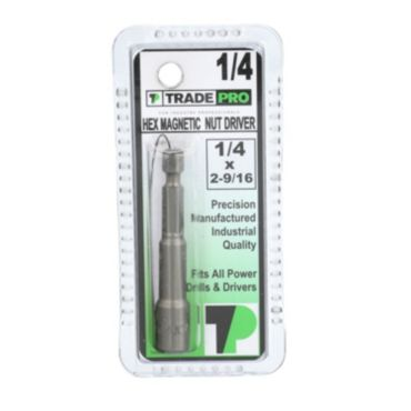 1 4 X 2 9 16 TRADEPROR Hex Magnetic Nut Driver