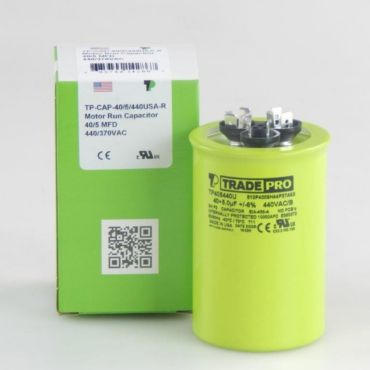 Tradepro 174 Round Usa Run Capacitor 40 5 Mfd 440v