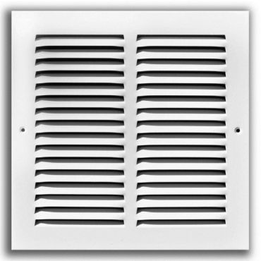 Stamped Face Return Air Grille - White