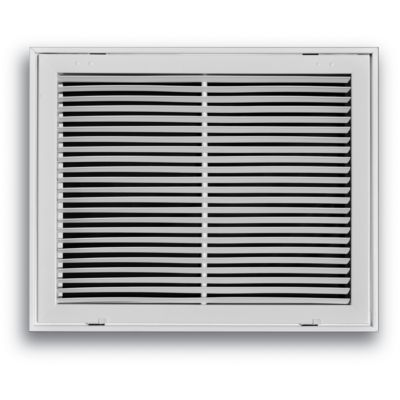"""20"""" x 20"""" fixed bar return air filter grille - white"""