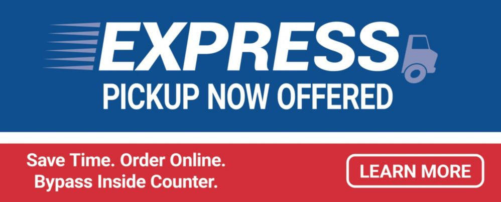 Express Pickup Now Available